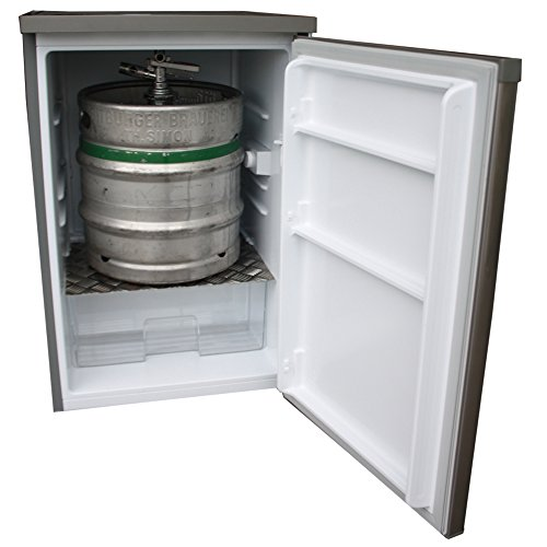 Fassbierkühlschrank in Silber für Keg Fässer bis max. 30l A++