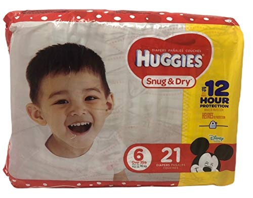 Huggies Snug & Dry Baby Diapers, Size 6, 21 Ct