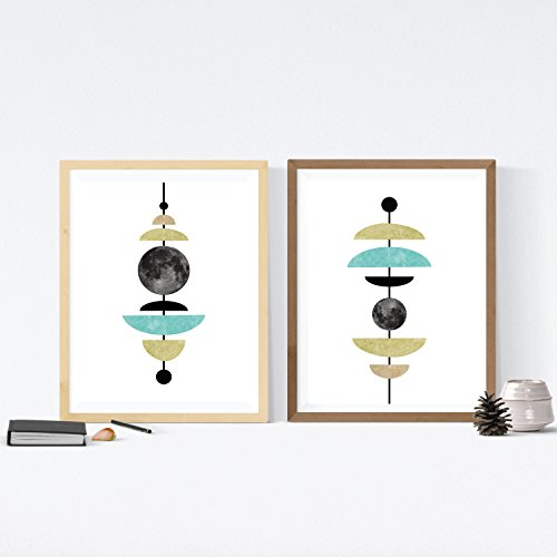 Nacnic Set de 2 láminas para enmarcar CONEXION Astral. Posters Estilo nórdico para Dar un Toque Personal a tu hogar. Tamaño A4