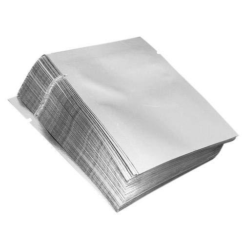 Dire-wolves 100 Pcs Foil Bags Silver Aluminum Foil Mylar Bag Reusable Aluminium Food Pouch Bag Vacuum Sealer Food Storage Package