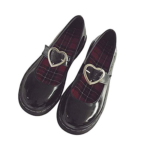 Top 10 best selling list for flat black patent shoes with strap