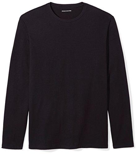 Amazon Essentials Slim-fit Long-Sleeve fashion-t-shirts, schwarz, US L (EU L)