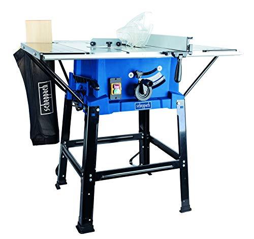 SCHEPPACH SET HS110 Tischkreissäge | 2000W Motorleistung | Untergestell und Tischverbreiterung | Inkl. 3 Sägeblätter