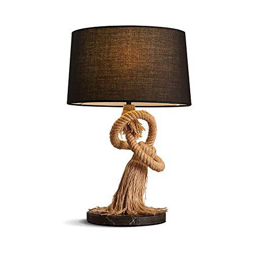 Tischlampe/Arbeitsscheinwerfer, Amerikanischer Stil Creative Fabric-Schirm Dekoration Marmorsockel Nachttischlampe/Nachttischlampe, Anzug für Study Schlafzimmer Wohnzimmer, BOSSLV