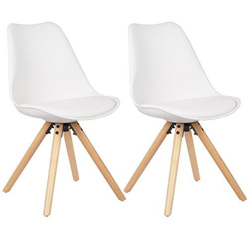 WOLTU® BH52ws-2 2 x Esszimmerstühle 2er Set Essz...