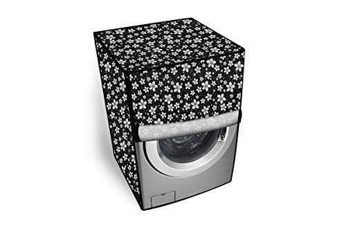 The Furnishing Tree PVC Washing Machine Cover Front Load LG 6.5 kg Inverter Fully-Automatic FHT1065SNL Black