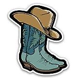 GT Graphics Express Cowboy Boots - 3' Vinyl Sticker - for Car Laptop Water Bottle Phone - Waterproof Decal