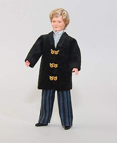 C Caco 11116400 Puppe Nostalgie Mann 14 cm Hose, Blazer Biegepuppe 1:12 Puppenhaus