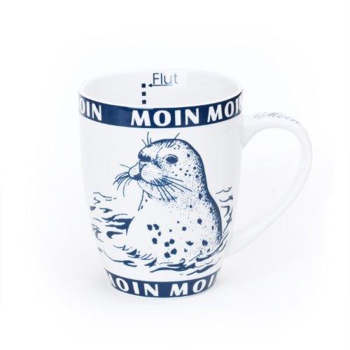 DELTA Tasse Seehund/Robbe innen Ebbe und Flut, Moin Moin 0,3l