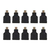 HDMIコネクタ、プロフェッショナルABS 10個実用的なマイクロHDMI-HDMIアダプタ、ラズベリーパイホーム用耐久性使いやすい