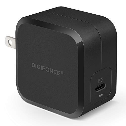 DIGIFORCE 急速 PD 充電器 TypeC GaN 窒化ガリウム USB-C for iPhone 12 iPad Pro 充電器 61W ブラック