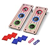 GoSports 2-in-1 Bean Bag Toss and Washer Toss Combo Outdoor Game - Fun for Kids and Adults - Includes 2 Double...