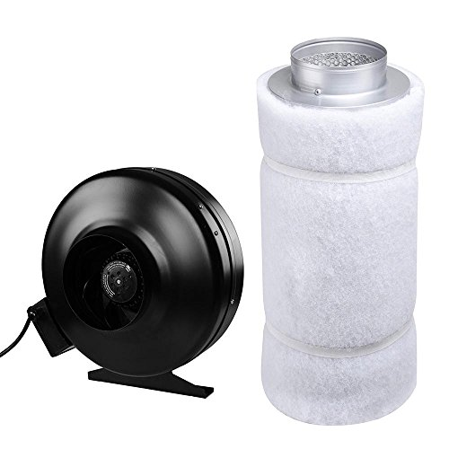 """Yescom 6"""" Inline Fan Air Blower & Carbon Filter Scrubber Set Hydroponic Odor Control Air Ventilation"""