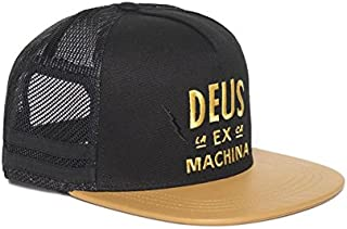 DEUS EX MACHINA (デウス エクス マキナ) メッシュキャップキャップ ELECTRIC BANDIT TRUCKER - BLACK x TAN DMS57539