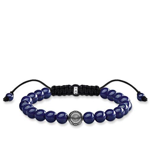 Thomas Sabo Damen Herren-Armband Ethno blau Rebel at heart 925 Sterling Silber Länge 22 cm A1779-535-1-L22v