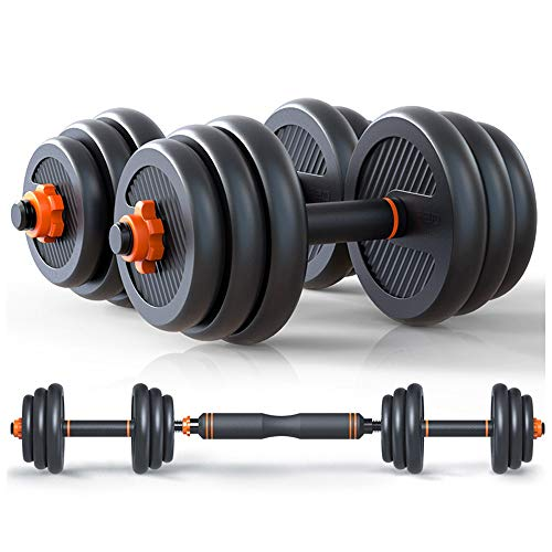 Peso ajustable con mancuernas multifuncional Pesas Barra Fija equipo de la aptitud con la biela Kettlebells empuje for arriba el soporte 10-40kg (Color : 40kg)