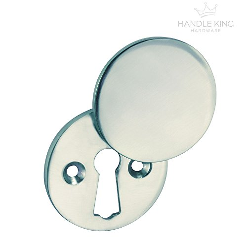 Keyhole Cover Plate Covered Escutcheon with Polished Chrome Finish