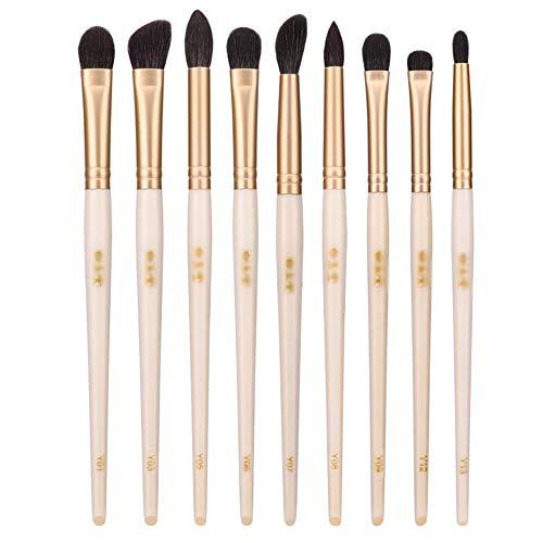 9Pcs Set Brosse Maquillage, Brosse De Maquillage Des Yeux Professionnel, Brosse Nez Oeil Portable Brosse À Haute Brillance