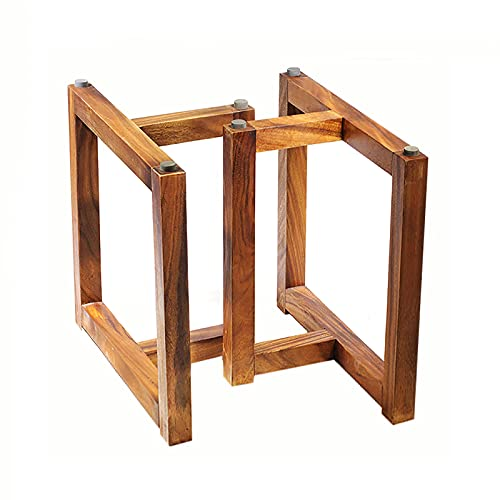 Set mit 2 Holzmöbelbeinen, Massivholzrahmen Stark und Robust, für Esstisch, Computertisch, Esstisch