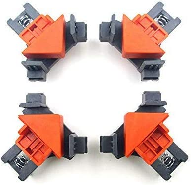 Angle Clamps 4PCS Right Angle Fixing Clip Multi function woodworking right angle clamp Adjustable product image