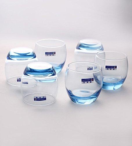Confezione da 6 BICCHIERI acqua cocktail, frullati, o bevande da 32cl della Arcoroc modello Salto ice blue ( bicchiere basso)