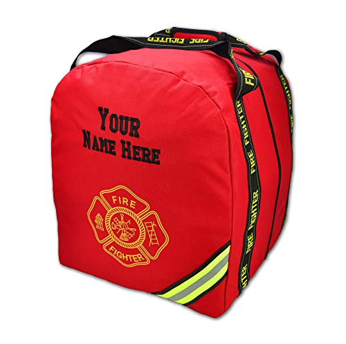 Lightning X Deluxe Fireman Firefighter Boot-Style Turnout Step in Bunker Gear Bag With Custom Embroidered Name