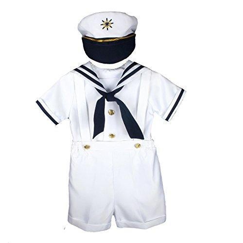 Unotux Sailor Shorts Suit for Infant Toddler Boy Navy Outfits S M L XL...
