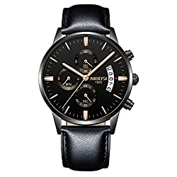 NIBOSI Chronograph Men's Watch (Black Dial Black Colored Strap),NIBOSI,2309