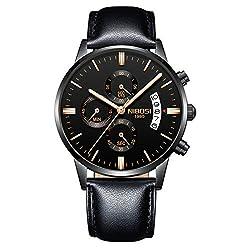 NIBOSI Chronograph Men's Watch (Black Dial Black Colored Strap),NIBOSI,2309
