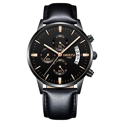 NIBOSI Chronograph Men's Watch (Black Dial Black Colored Strap)