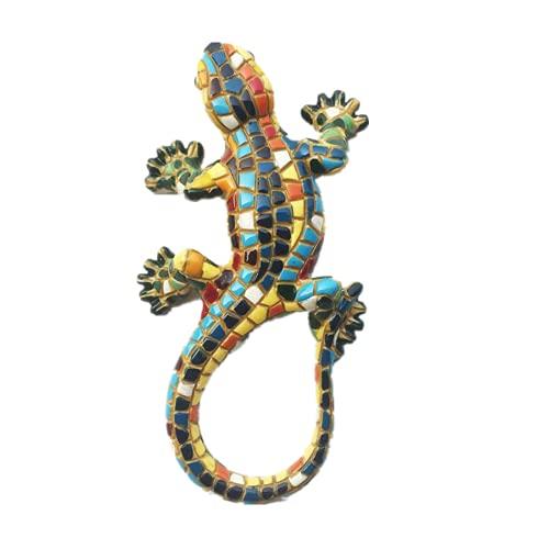 Imán para nevera con diseño de mosaico 3D, diseño de lagartos Barcelona España