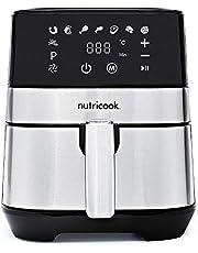 Nutricook Rapid Air Fryer by Nutribullet, 1700 Watts, Digital Control Panel Display, 8 Preset Programs with built-in Preheat function, 5.5 Liters, Brush Stainless Steel/Black, 2 Years Warranty