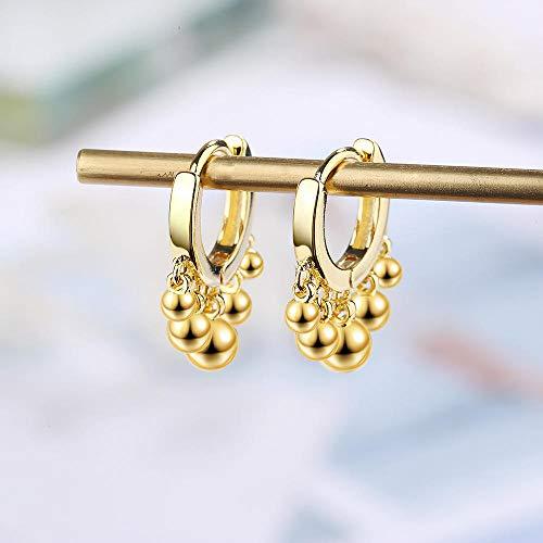 Pendientes Mujer Pendiente 925 Cuentas De Plata De Ley Pendiente Mujer Joyería Popular Pendientes-Oro