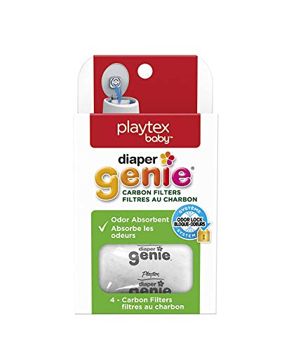 Playtex Diaper Genie Carbon Filter, Ideal for Use with Diaper Genie Complete, Odor Eliminator, 4 Pack(limited edition)
