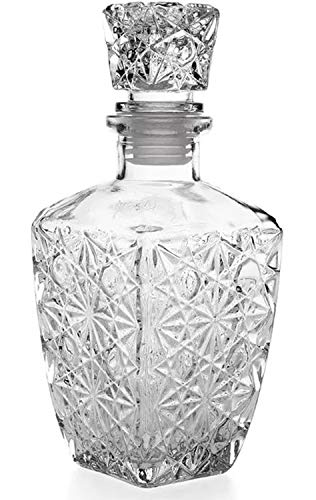 whiskyfles glas gesneden decanter 0,8 l - kruik ontwerp vintage transparant robuust wijn Vozka - klassieke jenever