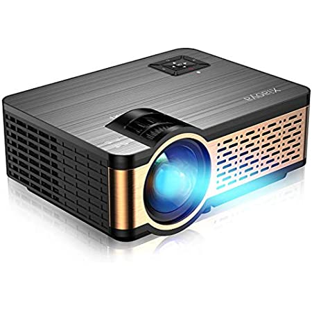 XIAOYA Outdoor Projector, HD Movie Projector Support 1080P, 4000 Lumens Home Theater Projector with HiFi Speaker, Compatible with HDMI, Fire Stick, USB (Black)