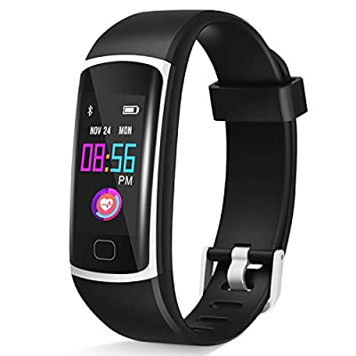 ?2020 Version? Upgraded Fitness Tracker, Waterproof Activity Tracker with Heart Rate Monitor and Sleep Monitor, Step Counter,Calorie Counter,Fitness Watch for Women Men Kids …