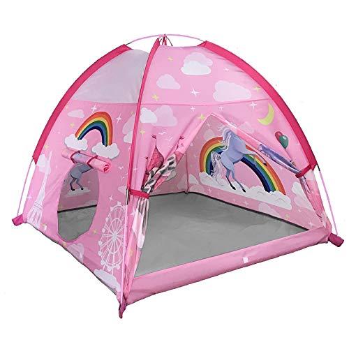 """MountRhino - Carpa de juegos para niños, 48 """"x 48"""" x42 """"Unicorn Carpa para niños para interiores y exteriores, Carpa para niños portátil para niños y niñas Casa de juegos Imaginative Playground Camping Games Gift"""