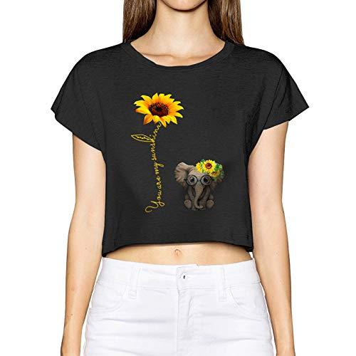 AUDNEDB You are My Sunshine - Camiseta de manga corta para mujer, diseño de girasol