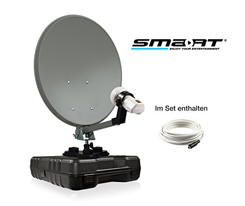 smart Camp ECO-KIT Mobile Sat Anlage im Koffer, LNB, Kabelset, OHNE RECEIVER