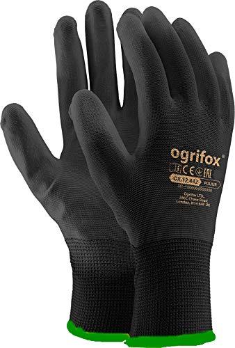 24 pares nueva negro revestimiento de seguridad guantes de trabajo jardín Grip para hombre constructores jardinería