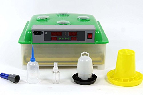 HeuSa Tech Inkubator VOLLAUTOMATISCH BK48 + Zubehör, Neue Generation, 48 Eier, Brutautomat, Brutmaschine