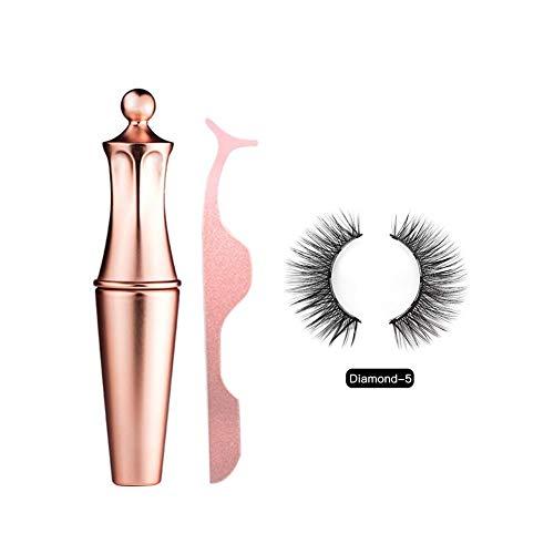 KDSFXG rimel magnético, eye-liner y magnético Lashes Kit, falsa reutilizable pestañas 3D Kit