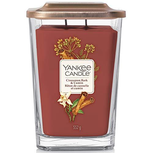 Yankee Candle, große quadratische Duftkerze mit 2Dochten | Cinnamon Bark & Cumin |...