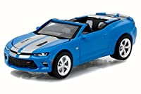 NEW 1:64 GREENLIGHT MUSCLE SERIES 18 COLLECTION - BLUE 2017 CHEVROLET CAMARO SS Diecast Model Car By Greenlight