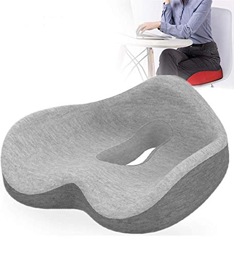 Donut Pillow for Tailbone Pain for Women Memory Foam Seat Cushion Pain Relief Tailbone, Coccyx, Sciatica, Postpartum, Bed Sores with Zippered Cover Doughnut Pillow for Car Office Chair ( Color : C )