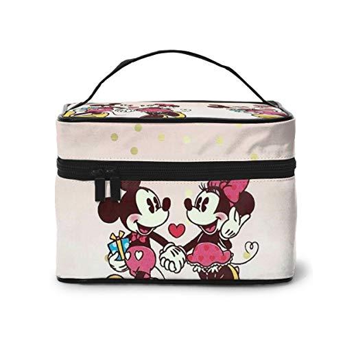 Bolsa de maquillaje, preciosa Mickey Mouse portátil de viaje, bolsa de cosméticos...