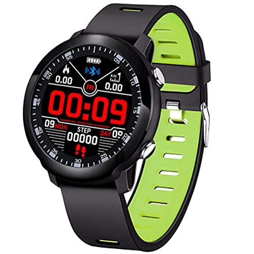 Fitness Tracker, IP68 pulsera deportiva impermeable con monitor de ritmo cardíaco, monitor de sueño, contador de calorías, reloj inteligente para hombres y mujeres, verde