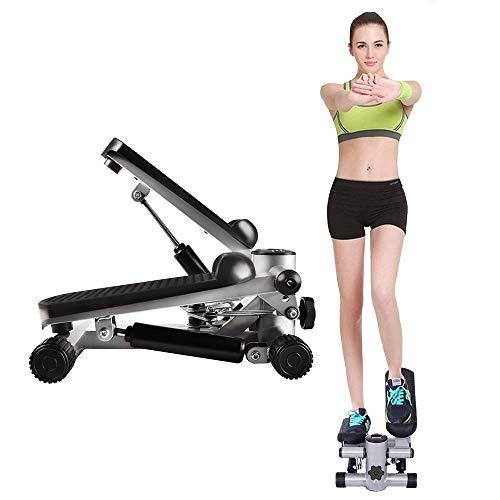 XLY Mini Stepper Hometrainer, Stepper Cardio Fitness con Mudo hidráulico y Pantalla LCD, Maquina de Subir escaleras para Ejercicios aeróbicos para Perder Peso