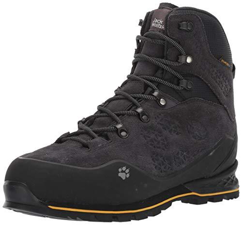 Jack Wolfskin Wilderness Texapore Mid M, Chaussures de Randonnée Hautes Homme, Noir (Phantom 6350), 42 EU